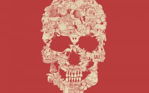 Clip Art Skull - Tom Burns